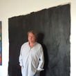 Van McFarland Houston artist December 2014 in front of painting