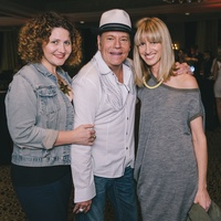 Claudia Solis, from left, Bubba McNeely and Chris Goins at the Fashion Houston Launch Party October 2013