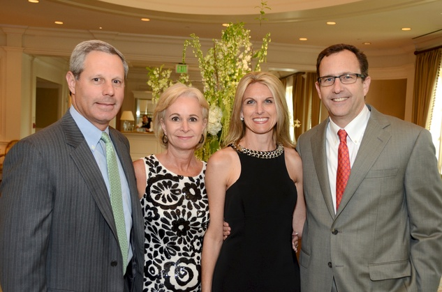 5 Danny and Emily Weingeist, frm left, and Stacy and Brad Dunn at the Broach Foundation Gala May 2014