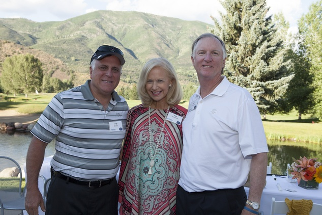 Jorge Benitez, from left, with Pam and Paul Thompson Houston Methodist in Aspen July 2014