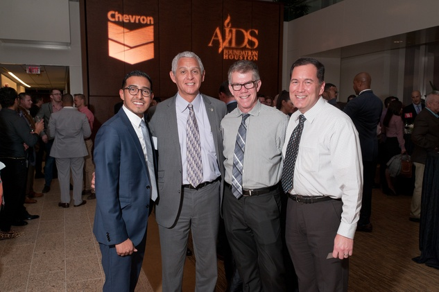 12 Michael Diaz, from left, Robert Gallegos, Van English and David McGurk at the World AIDS Day kick-off October 2014