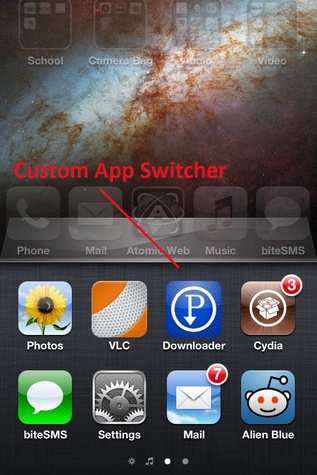 Custom app switcher