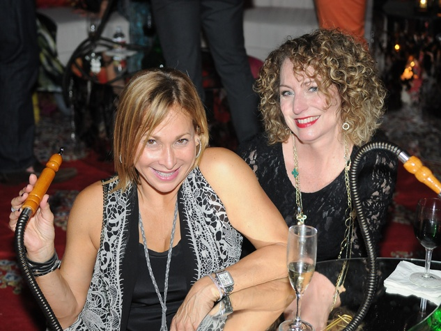 Heidi Dugan, left, and Karen Cook at the Q The Salon Moroccan theme party September 2013