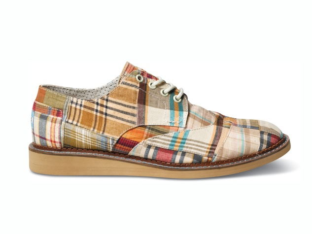 TOMS Sp14-M-Madas Plaid Brogue