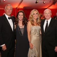 Bobbie and Phoebe Tudor, from left, and Jana and John Scott Scotty Arnoldy at the HGO Opening Night Celebration October 2014