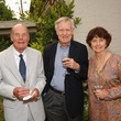 Allan Port, from left, with Bill and Laurence Anderson at the Katy Prairie Conservancy fundraiser May 2014