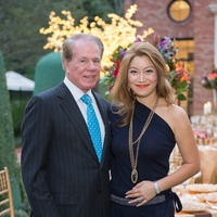 Larry Brookshire and Sunny Lee at the Alley Artist Dinner November 2014