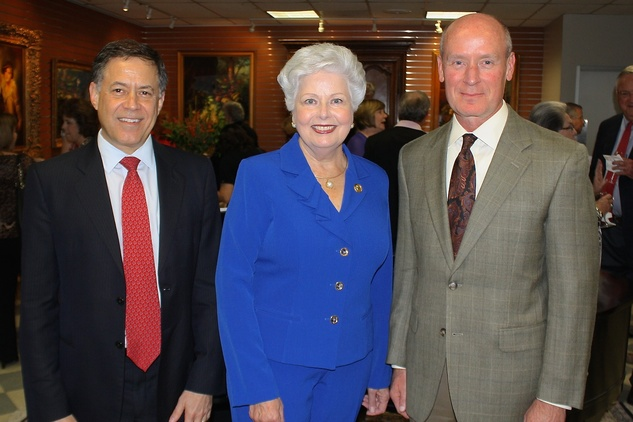News, Shelby, Blue Bird Circle endowed chair, October 2014, Dr. Gary Clark, Pat Edwards, Dr. Mark Kline