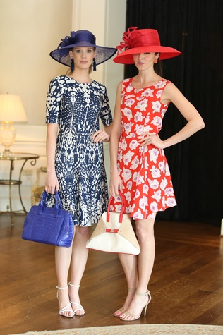 8 Neiman Marcus models at Hats Off to Mothers luncheon March 2015