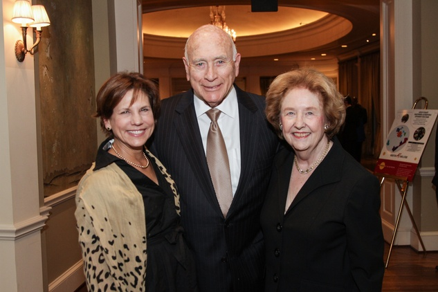 9 8306 Nancy Ruez, from left, with Truett and Harriet Latimer at the Houston A+ Challenge dinner December 2013