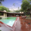 On the Market 12020 Tall Oaks St. Frank Lloyd Wright house July 2014 swimming pool
