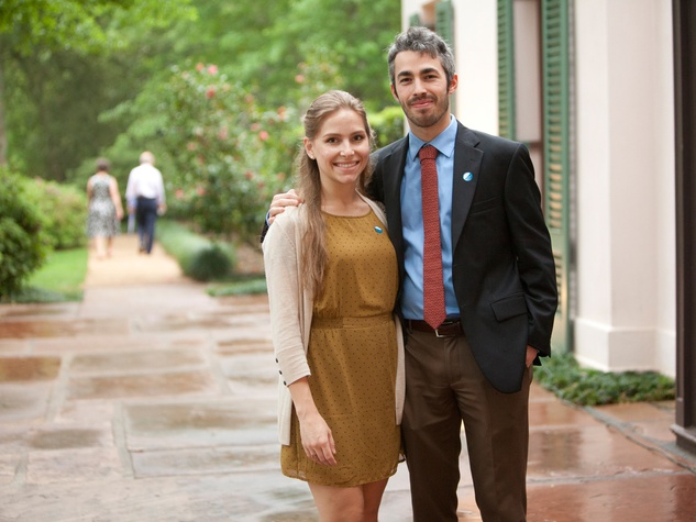 Laura Penney and Jordan Dupuis at Bayou Bend's Bubbly on the Bend April 2014