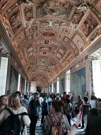 Jane Howze trip to Rome September 2014 Room of maps