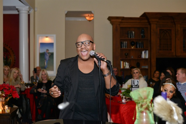 Vincent Powell at Bubba and Mark's Christmas Party December 2014.