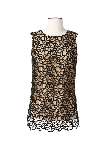 Lela Rose floral cut-out top from Neiman Marcus + Target holiday collection