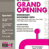 Lucky Robot Grand opening