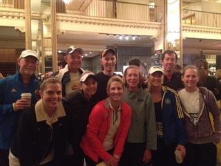 Dallasite Stacey Yervasi at Boston Marathon
