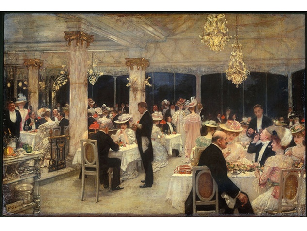 Henri Gervex Un soir de grand prix au pavillon d'Armenonville 1905 part of Paris 1900 exhibition
