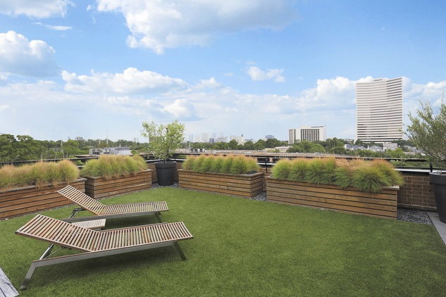 12 On the Market 21 Briar Hollow 802 penthouse with rooftop garden June 2014 terrace