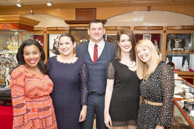 8. Ashley Seals, from left, Raquel and Kevin Meyer, Randalynn Gossett and Brianna Collins at the Houston Grand Opera Ovation Awards April 2015