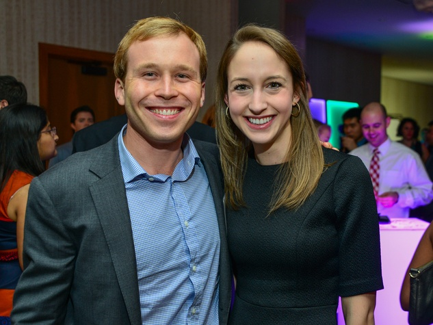 Pierce Bush and Kathryn Tomberlin at the Young Professionals Backstage party January 2014