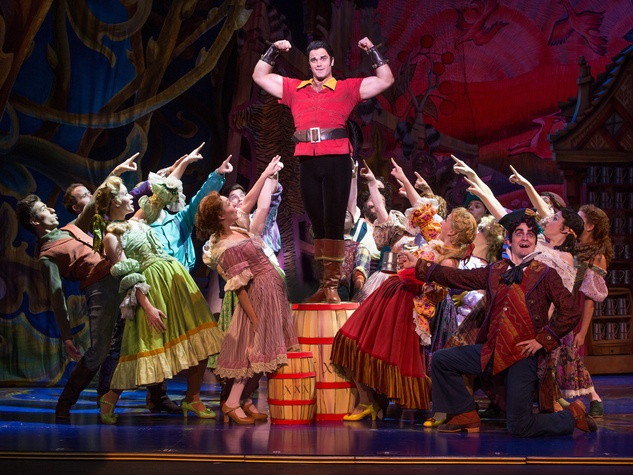 Broadway at the Hobby Center January 2015 cameron_bond_as_gaston_and_the_cast_of_disneys_beauty_and_the_beast