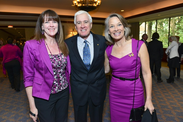 Janet Kavandi, from left, with Smith and Nina Johnston at the Hospice Butterfly luncheon April 2014