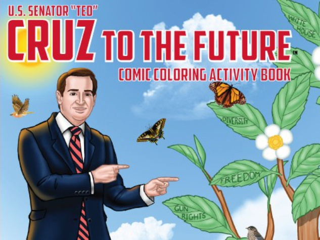Ted Cruz to the future coloring book