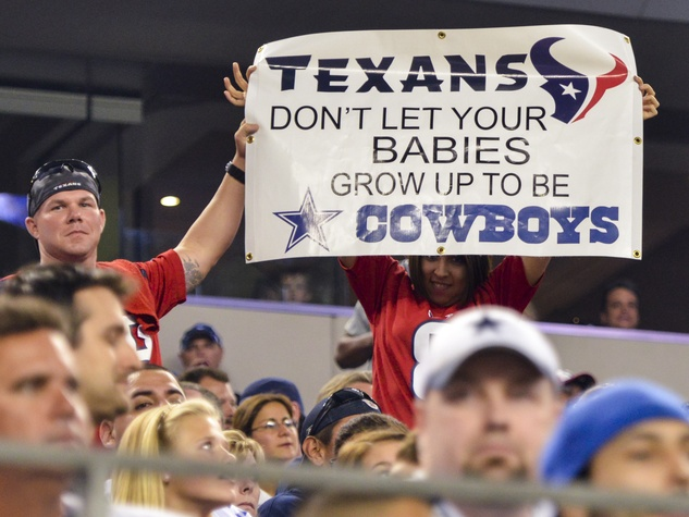 Texans Cowboys sign