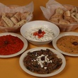 Assorted dips at Cafe Pita+