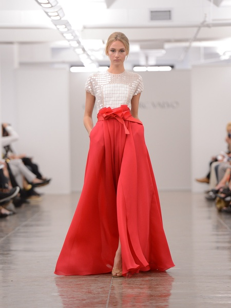 Clifford, Fashion Week spring 2013, September 2012, Carmen Marc Valvo, red skirt gown