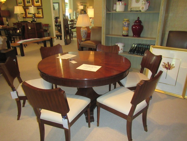 News, Shelby, Houston Design Center Sample Sale, August 2014, Henredon table and chairs
