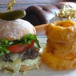 BRC American Gastropub new menu September 2013 Fat Boy Burger with onion rings