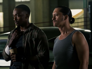 Anthony Mackie and Clifton Collins Jr. in Triple 9