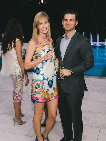 Rachel Kelting and Gregory Patrinely at The Memorial Hermann at the Under the Boardwalk kickoff party