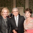 Cathy Schleussner, from left, Richard Leibman and Barbara Ryan at the Jung Center dinner April 2014