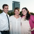 Jay Zeidman, from left, Natalie Herzon and Dawn M. Gillespie at the Urban Green Birthday en Blanc May 2014
