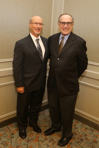 9 Mark Mucasey, left, and Alan Dershowitz at the Guardian of the Human Spirit luncheon November 2014