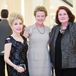 Margaret Alkek Williams, from left, Laura Bellows and Terry Brown at the Houston Symphony Retrospective Exhibit event March 2014