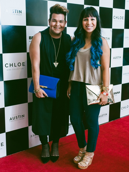 Austin Fashion Week 2016 red carpet Dominic Alonzo Samantha Plasencia