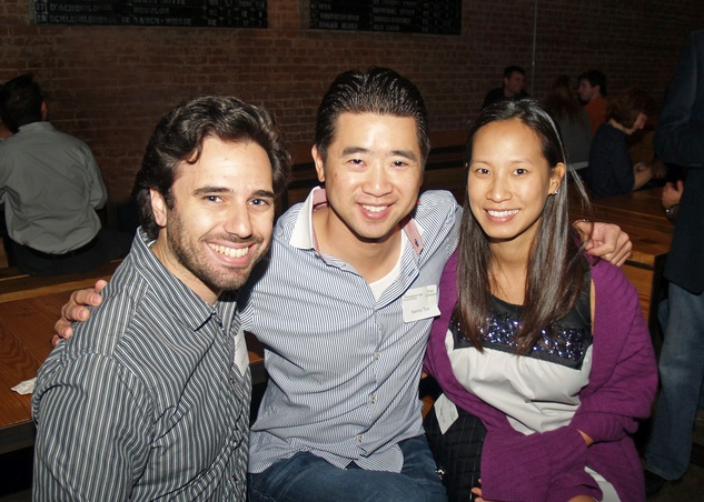 10 Josh Cincinnati, from left, and Kenny and Janae Tsai at the Preservation Houston Young Professionals party November 2013