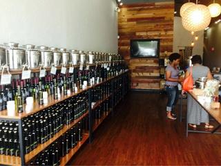 Interior of EVOO & Vin in Dallas