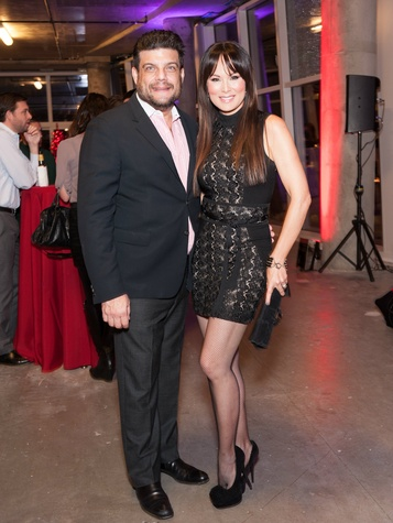 Sam Saladino and Tiffany Hendra, the museum tower partners card party