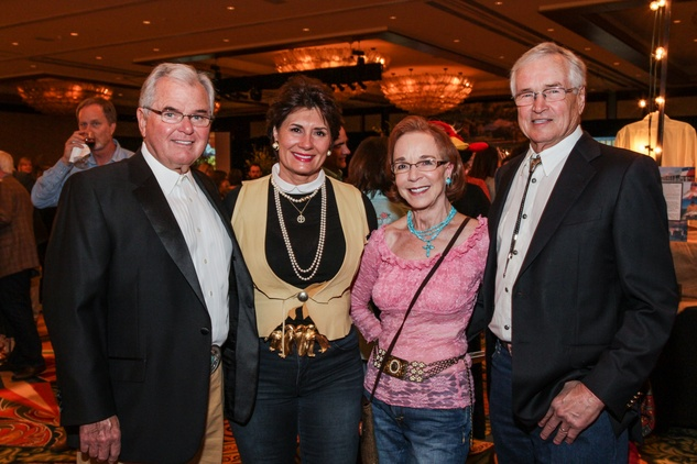 9986 Dan and Hanna Gwen, from left, and Karen and Robert Laflen at Camp for All Gala March 2014