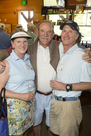 Houston Methodist in Aspen, July 2015, Kathy Orton, Marty Goossen and John Orton