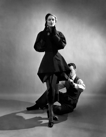 Charles James with model, 1948