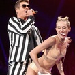 Miley Cyrus grinds on Robin Thicke at the VMAs