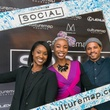 24 Renia Butler, from left, Free Lane and Michael Stevenson at the CultureMap Social at Gateway November 2014