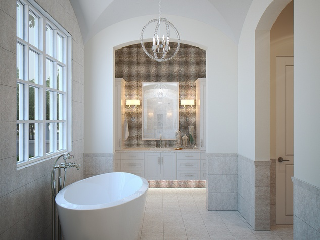 Houston, News, Shelby, Sudhoff Hampton Lane Collection, April 2015, 6018 Pine Forest - master bath