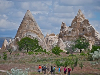 Whole Journeys hikers in Cappadocia, Turkey